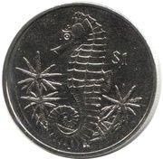 1 dollar hippocampe – revers