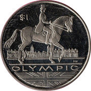 1 Dollar - Elizabeth II (Dressage) – revers