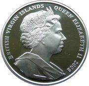 10 dollars Elizabeth II (Nelson mourant, entouré de ses collègues) – avers
