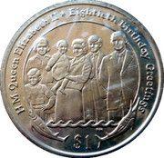 1 Dollar Elizabeth II 'Birthday Gretings' – revers