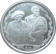 10 Dollars Elizabeth II La Reine Mère avec le Prince Charles – revers