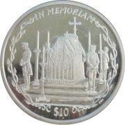 10 Dollars Elizabeth II Le cercueil de la Reine Mère – revers
