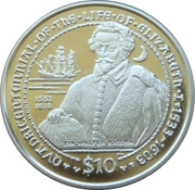 10 Dollars Elizabeth II 'Sir Walter Raleigh' – revers