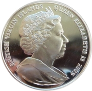 10 Dollars Elizabeth II Colonne Nelson à Londres – avers