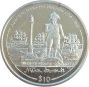 10 Dollars Elizabeth II Colonne Nelson à Londres – revers