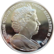 10 Dollars Elizabeth II Course-poursuite dans les Indes occidentales – avers