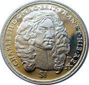 1 Dollar Elizabeth II 'King Charles II' – revers