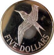 5 Dollars - Elizabeth II (2nd portrait) – revers