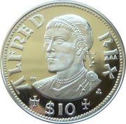 10 Dollars Elizabeth II 'King Alfred' – revers