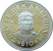 10 Dollars Elizabeth II 'King Canute' – revers