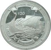 20 Dollars Elizabeth II 'Le bateau d'Oseberg' -  revers