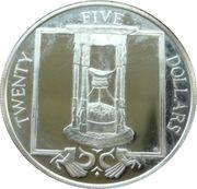 25 Dollars Elizabeth II 'Sablier' – revers