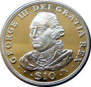 10 Dollars Elizabeth II  'King George III' – revers