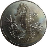 5 Dollars - Elizabeth II (Hippocampe) – revers