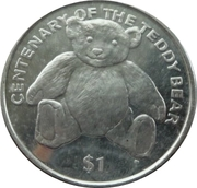 1 Dollar Elizabeth II 'Teddy Bear Centenary' – revers