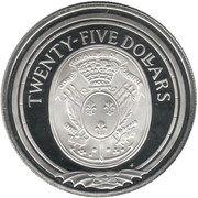 25 Dollars - Elizabeth II (Insignia of the Royal French Marines) – revers