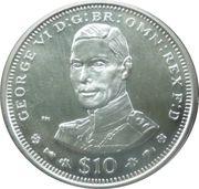 10 Dollars Elizabeth II (King George VI) – revers