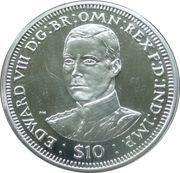 10 Dollars Elizabeth II (King Edward VIII) – revers