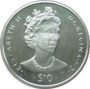 10 Dollars Elizabeth II (Queen Elizabeth II) – revers