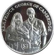 1 Dollar - Elizabeth II (Prince George) – revers