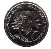 1 Dollar - Elizabeth II Diamond Wedding Anniversary – avers