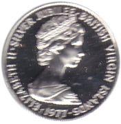 1 cent - Elizabeth II (2eme effigie - Jubilé d'argent) – avers