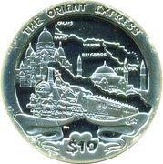 10 Dollars - Elizabeth II (Orient Express) – revers