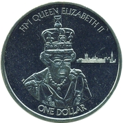 1 Dollar - Elizabeth II (Queen Elizabeth II is the reigning monarch of Great Britain) – revers