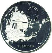 1 Dollar - Elizabeth II (475th Anniversary of sir Francis Drake) – revers