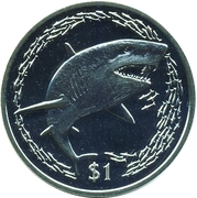 1 Dollar - Elizabeth II (Lemon shark) – revers