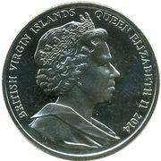 1 Dollar - Elizabeth II (Nurse Edith Cavell) – avers