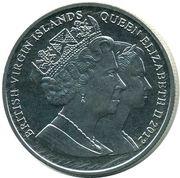 1 Dollar - Elizabeth II 4th portrait; Olympic; Gymnast – avers