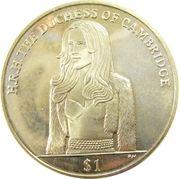 1 Dollar - Elizabeth II (Duchesse de Cambridge) – revers