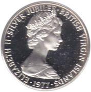 10 cents - Elizabeth II (2eme effigie - Jubilé d'argent) – avers