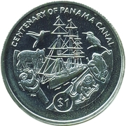 1 Dollar - Elizabeth II (Centenary of Panama Canal) – revers