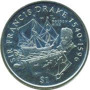 1 dollar - Elizabeth II (Francis Drake) – revers