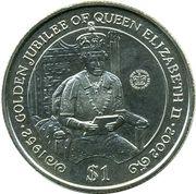 1 dollar - Elizabeth II (4eme effigie - Jubilé) – revers