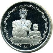 1 Dollar - Elizabeth II (Queen Mother) – revers