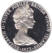 25 cents - Elizabeth II (2eme effigie - Jubilé d'argent) – avers