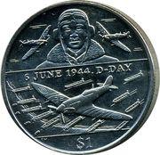 1 Dollar - Elizabeth II (D-Day) – revers