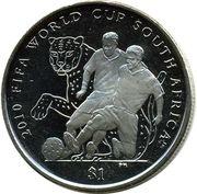 1 Dollar - Elizabeth II (2010 FIFA World Cup South Africa ) – revers