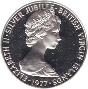 50 cents - Elizabeth II (2eme effigie - Jubilé d'argent) – avers