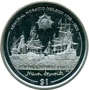 1 Dollar - Elizabeth II (Nelson's favorite Ships) – revers