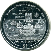 1 Dollar - Elizabeth II (The Chase to the West Indies - 1805) – revers