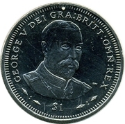 1 Dollar - Elizabeth II (Roi George V) – revers