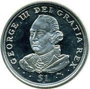 1 Dollar - Elizabeth II (King George III) – revers