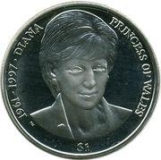 1 Dollar - Elizabeth II (Princesse Diana) – revers