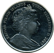 1 Dollar - Elizabeth II (Guillaume le Conquérant) – avers