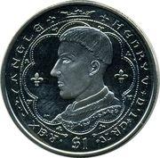 1 Dollar - Elizabeth II (Roi Henri V) – revers