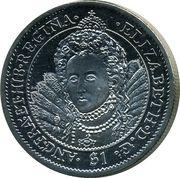 1 Dollar - Elizabeth II (Reine Elizabeth I) – revers
